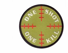 72186 Rothco One Shot One Kill Morale Patch w/ Hook Back