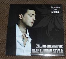 Eurovision Song Contest 2012 Serbia Zeljko Joksimovic Nije Ljubav Stvar CD