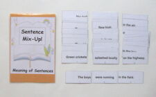 Teacher Made Literacy Center Learning Resource Game Sentence Mix-Up