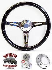 "1965-1969 Fairlane Ranchero Galaxie 500 Galaxie steering wheel 15"" DARK MAHOGANY"