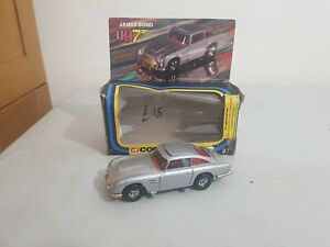 Boxed Vintage 1977 Corgi 271 James Bond Aston Martin DB5 unplayed with