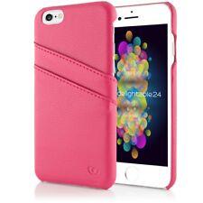 Apple iPhone 6 6S Echt Leder Handy Hülle, Hard Case Schutz Kartenfächer Cover
