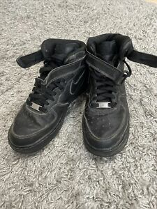 nike air force 1 high top sneakers schwarz 39 (Fast nicht getragen)