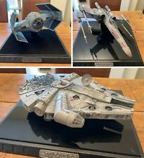 More details for very rare star wars code 3 millenium falcon, x-wing and tie fighter replicas