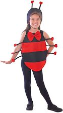 Girls Ladybird Lady Bug Mini Beast Insect Red & Black Fancy Dress Costume Outfit