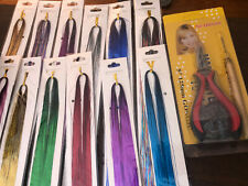 Pixie hair tinsel kit 12- colors and hair extension tool kit