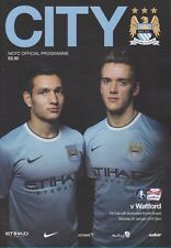 MAN CITY v WATFORD 2013/14 FA CUP MINT PROGRAMME MANCHESTER