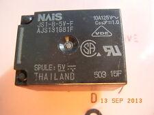 JS1-B-5V-F Relay Relais 10A 125VDC Spule Voltage Coil 5VDC NAIS