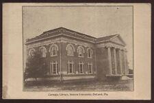 Postcard DE LAND Florida/FL  Stetson University Carnegie Library Building 1907?