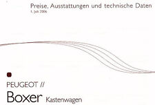 Peugeot - Boxer - Kastenwagen - Preisliste  - 07/06 - Deutsch - nl-Versandhandel