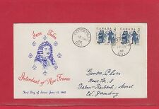 1962 Jean Talon FDC to West Germany Air Mail Canada cover