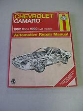HAYNES #24016 (866) Automotive Repair Manual Book for CHEVROLET CAMARO 1982-1992