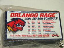 """XFL Football Orlando Rage 2001 Schedule Magnet RARE Defunct Team 4"""" x 2"""""""