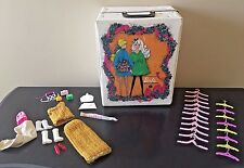 Vintage 1968 World of Barbie Doll Trunk Carry Case 1004 Accessory Boxes Hangers