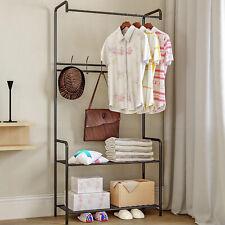 Clothes Hanger Stand Shoe Storage Metal Hook Rack Storage Shelf US