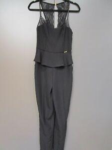 Blumen Kreis Overall Reißverschluss Jumpsuit Einteiler Stretch Hosen Anzug Blume