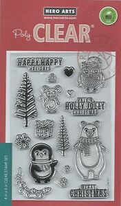 """""""Holiday Animals"""" PolyClear Stamp Set by Hero Arts"""