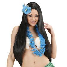 BLAUE HAWAII BLÜTENKETTE # Karneval Karibik Südsee Leis Hula Kostüm Party 9125