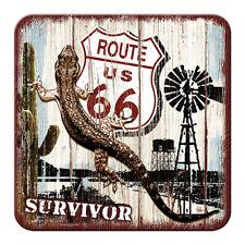 ROUTE 66 - SURVIVOR - METALL UNTERSETZER 9x9cm COASTER 46110