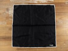 DRAKE'S of London solid black silk pocket square authentic - NWOT