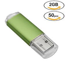 50PCS/LOT Rectangle Model 2GB USB 2.0 Flash Drives Thumb Memory Stick Pen Drives