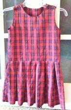 Plaid school Red Jumper uniform dress sz 6x