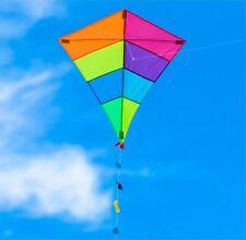 Drachen 65x74 cm als Flugdrachen mit Drachenleine - Flugspielzeug Drachenflieger