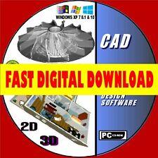 2D 3D MODELING PRO CAD COMPUTER AIDED DESIGN MULTI FORMAT FAST DIGITAL DOWNLOAD