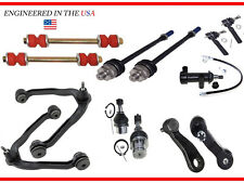 (13pc) Front Upper Control Arm Lower Ball Joint Tie rod Pitman Idler Arm 6 Lug