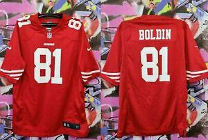 San Francisco 49ers Anquan Boldin #81 Nike NFL Football Jersey Shirt Mens Size L