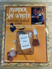Murder, She Wrote Mystery Game Puzzle Recipe for Murder 1984 550 Pcs NEW/SEALED