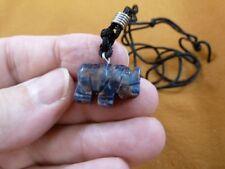 an-ele-24 Elephant Blue Sodalite simple carving Pendant necklace gemstone Fetish