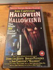 HALLOWEEN AND HALLOWEEN 2 VHS VIDEO PAL JOHN CARPENTER