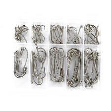 Wholesale 100 pcs Perforated Fresh Water Sea Fly Fishing Needle Hooks Tackle E53