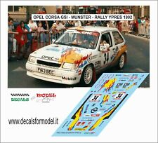 DECALS 1/43 OPEL CORSA GSI MUNSTER RALLY YPRES 1992