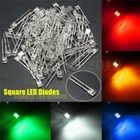 100Pcs 2x3x4mm Wide Angle Flat Top LED Diodes Water Clear Transparent Light