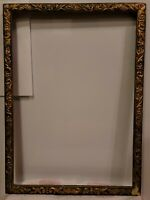 ANTIQUE EASTLAKE AESTHETIC MOVEMENT VICTORIAN GILT WOOD GESSO PICTURE FRAME14X20
