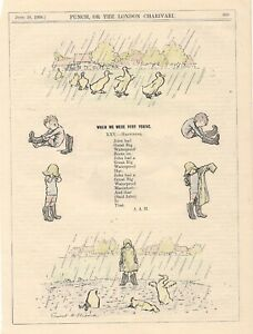 1924 Punch Cartoon by E H SHEPARD When We Were Very Young  HAPPINESS