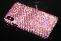 Bling Pink Diamond Case Cover For iPhone X 5  6 7 8 Plus WITH SWAROVSKI ELEMENTS