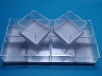 10 MM MICROMOUNT-Dosen  weiß  28x28x22 mm für Mineralien Fossilien / Kästchen