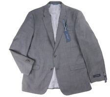 NEW $425 TOMMY HILFIGER GRAY WORSTED WOOL TAILORED FIT ADAMS BLAZER JACKET 38R