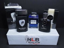 3 Colognes Ford 50 Years Ford Mustang, Tonino Lamborghini Mitico, blue seduction