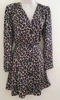 Zara New Animal Print Flowing Dress SIZE XS
