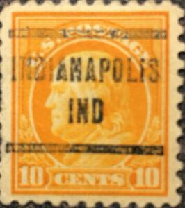 Scott #510 US 1917 Ben Franklin Precancel Postage Stamp XF LH