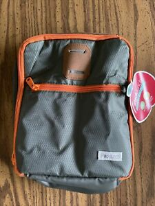 iPack lunch Insulated Cooler meal carrier Bag Lunch Box zippered two pockets