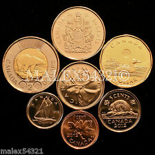 CANADA 2012 COMPLETE COIN SET 1 CENT TO 2 DOLLARS UNCIRCULATED (8 COINS)