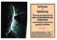 Topps X-Men Magneto Card signed autographed Sir Ian McKellan Dynamic Forces COA