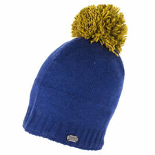 Kusan Accessories Slouch Beanie Hat with Pom - Navy