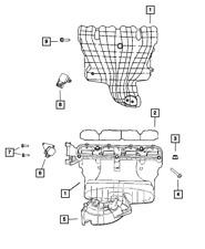 For 2008-2010 Dodge Avenger Intake Manifold Runner Valve Dorman 34851BV 2009