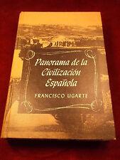 "OLD VTG 1963 SPAIN/SPANISH BOOK ""PANORAMA de la CIVILIZACION ESPANOLA"", VG COND"